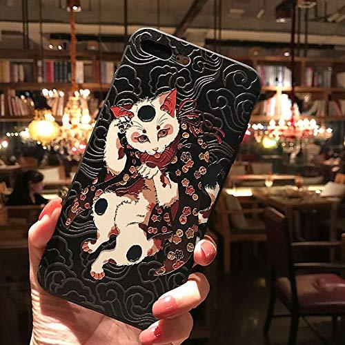 Handyhülle,Für Das iphone 11 7 8 7 8 Plus X Xs Xr Xs Max Case,Im Japanischen Stil Geprägte Mantel Fox Silikon Hülle Tpu-Fall Mit Gummiabdeckung Rutschhemmend Stoßfestes Gehäuse,For iphone Xs