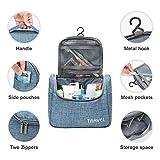 Kulturbeutel Waschtasche Unisex - Acdyion Aufhängen Kosmetiktasche Reise-Tasche für Herren und Frauen für Koffer & Handgepäck Urlaub Waschbeutel Toiletry Bag (Blau) - 2