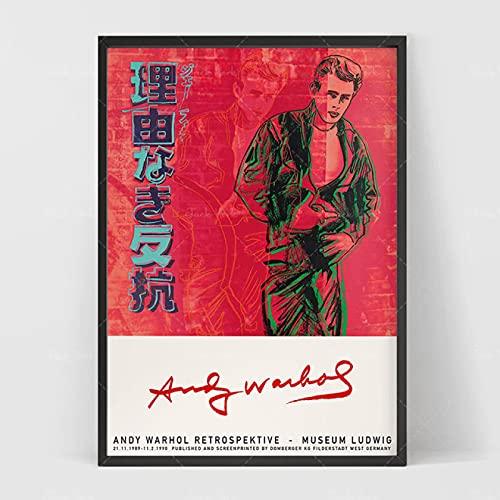 Liuqidong Stampe su Tela Andy Warhol Falce e Martello stampabile Unione Sovietica Art Poster 60x90cm