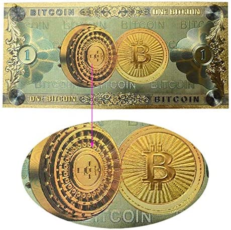 Bitcoin Gold Plated Branded goods Banknote Imitation Commemorative Cash special price
