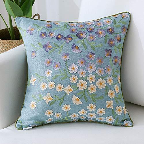 JYSD-Ropa interior sexy Funda de Almohada de algodón Impresión de Plantas de Lino Inicio Sofá Funda de cojín Decorativo 45X45cm Q19/08/24 (Color : B)