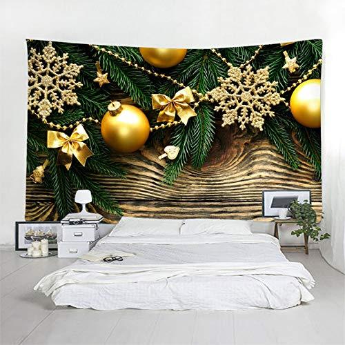 BATOHOME Navidad Joyas, Tapiz Pared Dormitorio Bolas de decoración navideña Tapiz Yoga, Tapiz Tela Paisaje 300x260CM