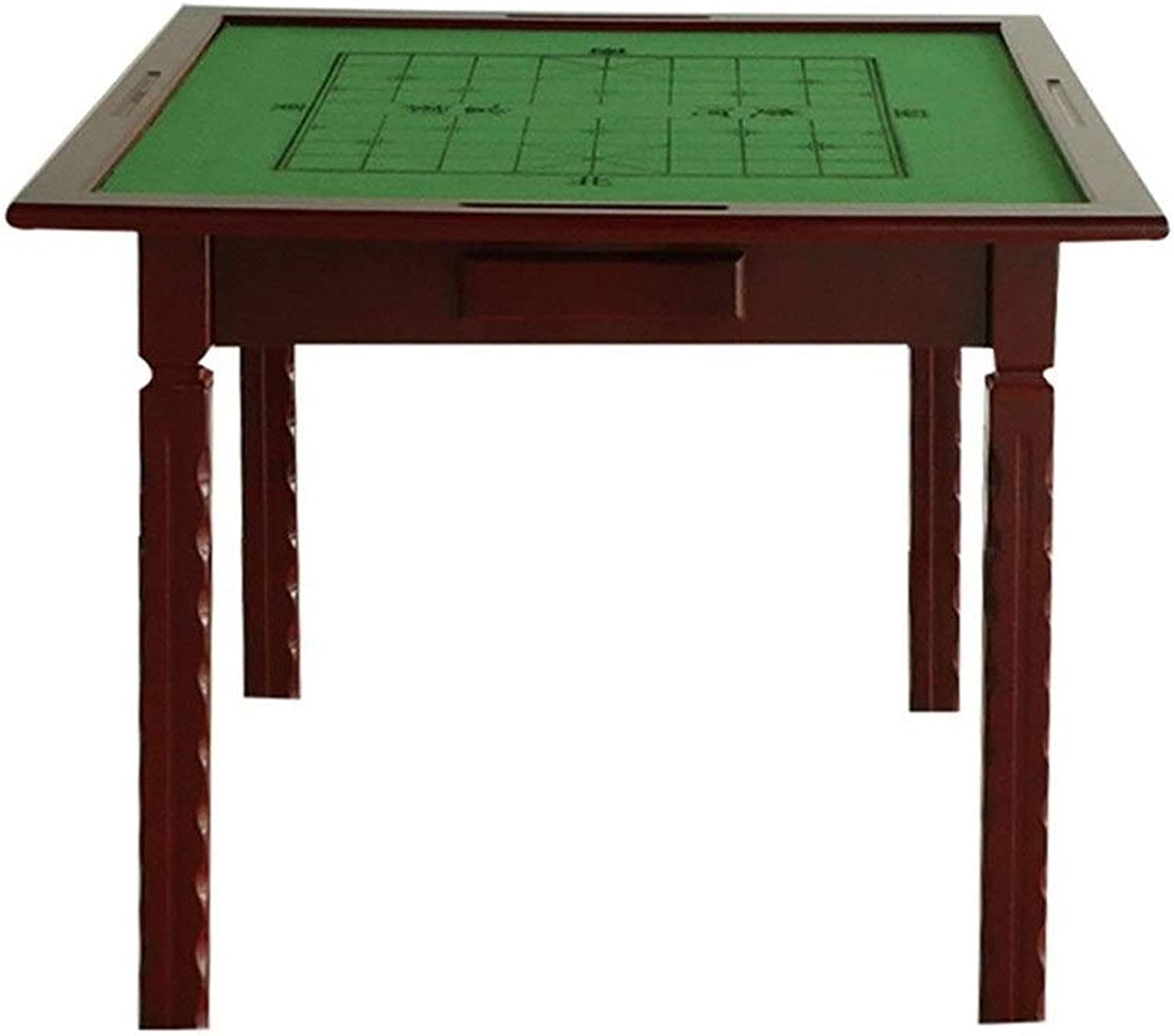 NuoEn Wooden Mahjong Table Board Games Tile Games,Dominoes,Poker Table85 X 85cmFoldable Table Outdoor Table Chess Table Dining Table Square Table