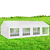 AMERICAN PHOENIX Party Tent 16x26 Heavy Duty Large White Canopy Commercial Fair Shelter Wedding Events Canopy Tent (White, 16x26)