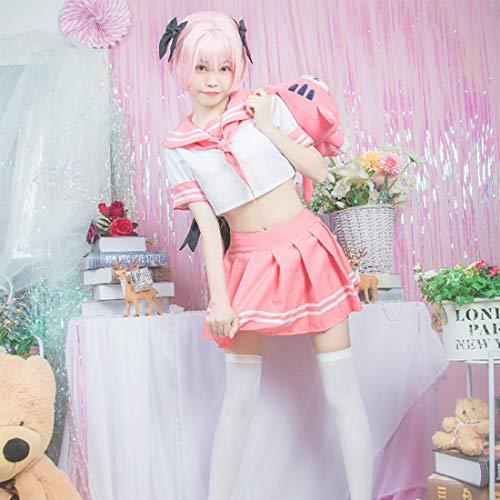 Teakpeak Schulmädchen Uniform Cosplay, Cosplay Schuluniform Mädchen Matrosenanzug Damen Sailor Suit Fate Grand Order Cosplay Sailor Kostüm Set mit weißen Socken