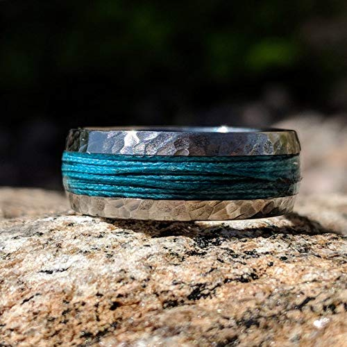 Titanium Fishing Line Ring Custom Made Bands Fly Fishing USA Made To Order Fast Delivery