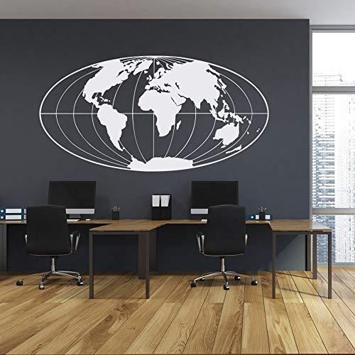 JXCDNB Umriss Weltkarte Wandaufkleber Große Weltkarte Wandkunst Aufkleber Planet Erde Wandaufkleber Home und Büro Schlafzimmer Wandaufkleber 57x29cm