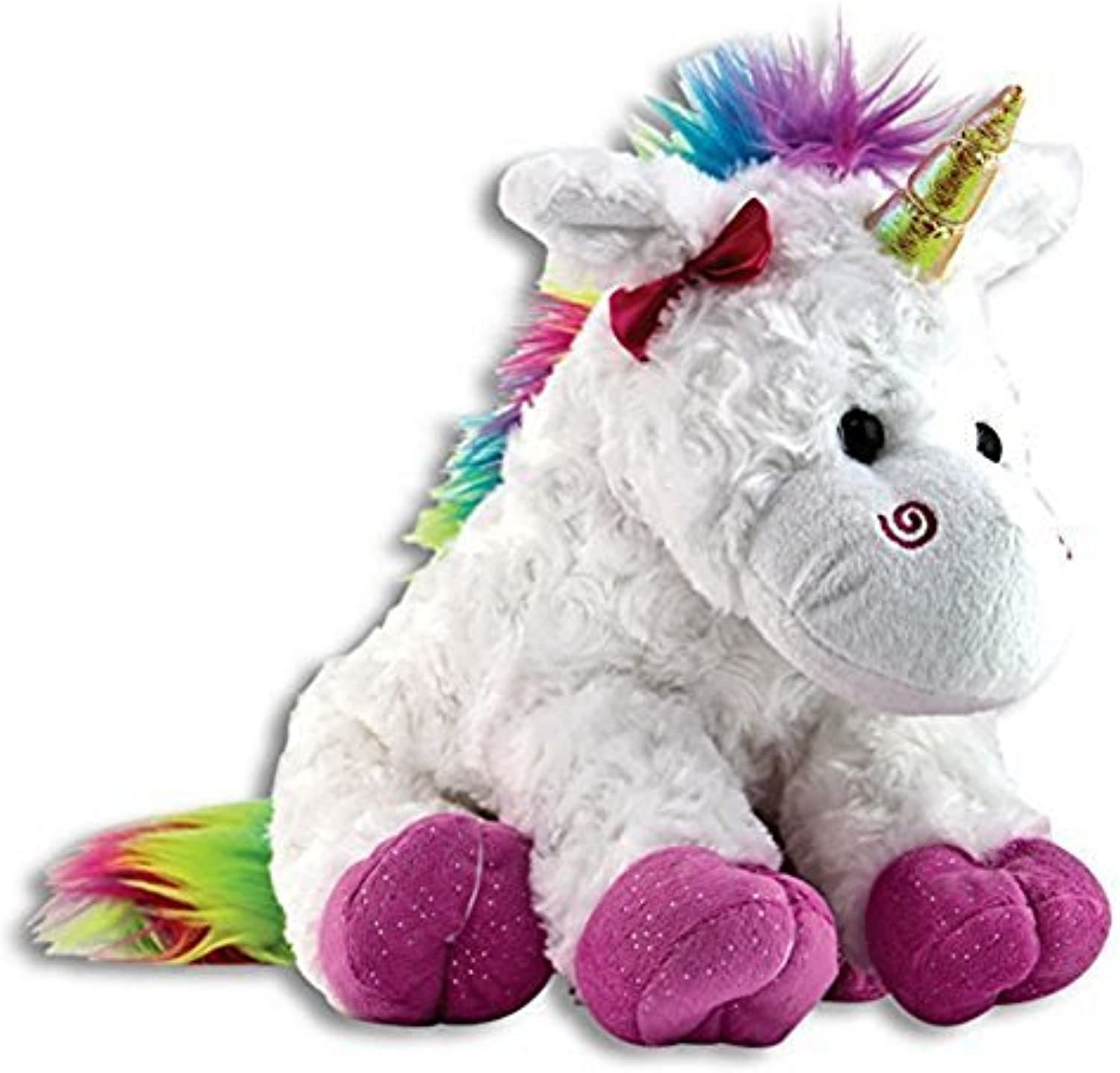 The Petting Zoo Plush Rainbow Unicorn  10 Inches by The Petting Zoo