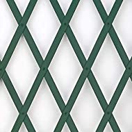 GARDEN TRELLIS - Separate areas of your garden, tease blooms up your walls or add an extra element to your plant boxes in style with these hardwearing green plastic trellis! STRONG SUPPORT - Ideal for separating different areas of your gardens or out...