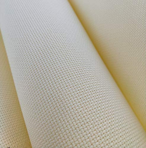 "59"" X 36"" Cream 14 Ct Counted Cotton Aida Cloth Cross Stitch Fabric"