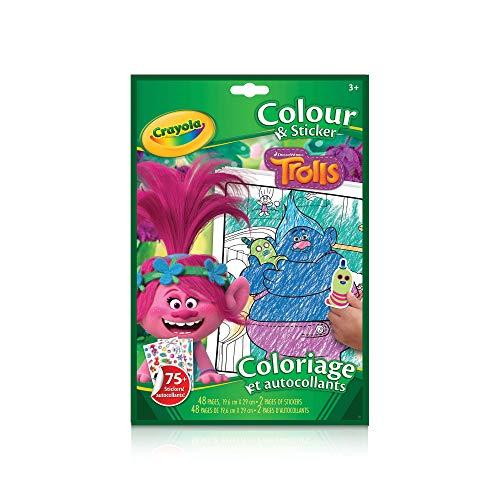 Crayola Color and Sticker Book, Trolls