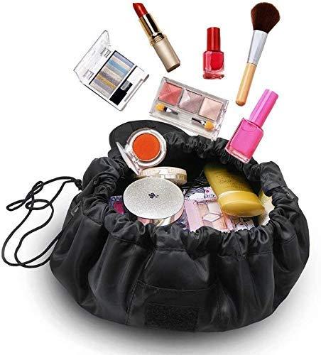 WSGQLT Neceser de Viaje Transparente, Bolsa de Maquillaje con asa y Bolsa Impermeable para Botellas, Transparente