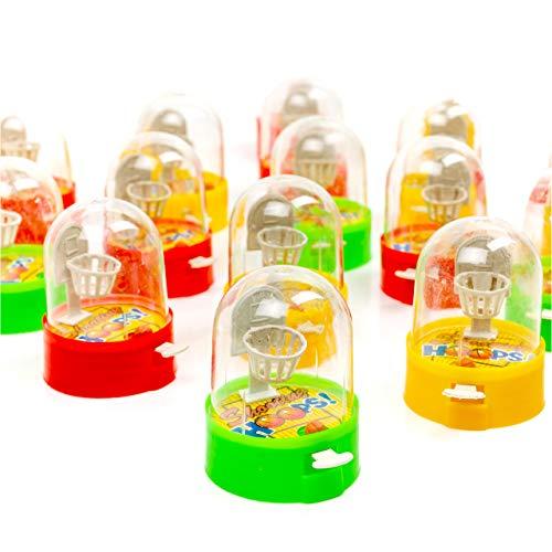 24 Mini Baloncesto de Dedo para Niños, 6m| Pequeño Juguetes para Infantiles, Pequeños Regalos, Regalar, Rellenos Bolsas Fiesta Cumpleaños, Piñatas, Calcetines Navidad, Premios.