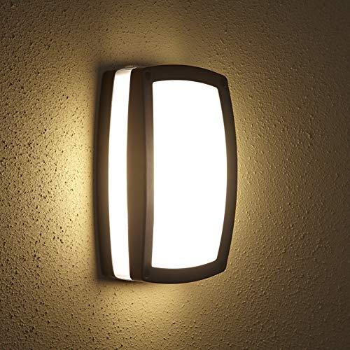 Biard - Architect Lampada da Parete per Esterni (E27, Colore Nero) - Applique Murale di Design - Impermeabile IP54 - Plafoniera con Custodia in Alluminio - Iluminazione Giardino