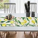 Bateruni Früchte Zitronen Tischläufer, Blumen Rechteckige Tischwäsche Matte, Hitzebeständig rutschfest Tischset für Esszimmer Party Urlaub 35 * 180cm - 4