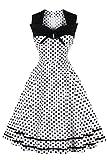 MisShow Robe Femme Vintage Rockabilly Pin up années 20s 70s Printemps Décontractée...