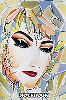 Notebook: Watercolor And Pastels Of A Mystical Female Portrait Pa , Journal for Writing, College Ruled Size 6