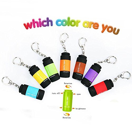 Jia&he Recharge portable portable de mini-Mini torche LED porte cl¨¦ USB , color random