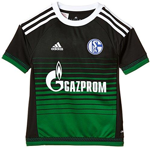 adidas Jungen Kurzarm Ausweichtrikot Schalke 04 Replica, Night Grey/Green/White, 128