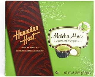Hawaiian Host White Chocolate Matcha Macs Box 17.6 oz each (3 Items Per Order, not per case)