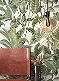 NEWROOM Papier peint floral vert fleur feuille floral intissé moderne forêt nature