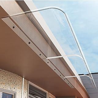 Aeon hum 庇 屋根 ひさし 雨よけ 梅雨対策 テラス 日よけ キャノピー 透明 連接可能 設置簡単 ブラケット不要 ヘリ設置 40X100CM