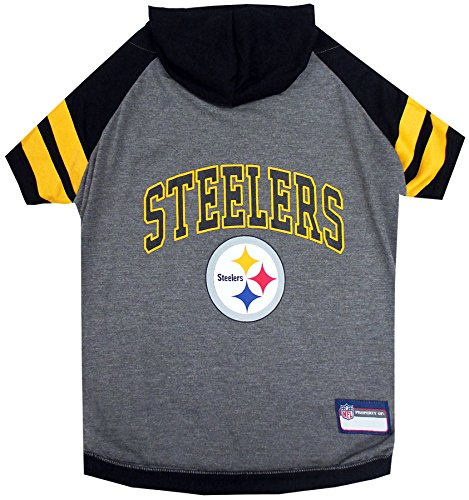 Pets First Pittsburgh Steelers Hoodie T-Shirt, Large