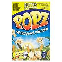 Popzマイクロ波バターポップコーン3×90グラム (x 4) - Popz Microwave Butter Popcorn 3 x 90g (Pack of 4) [並行輸入品]