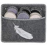 ONVAYA® Pantuflas para invitados ABS | plumas gris | juego de 6 | suela antideslizante | zapatillas de estar por casa | pantuflas de fieltro | tallas 36-45