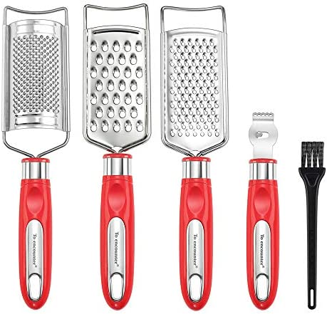 To encounter Cheese Grater Set Set of 5 Food Grater for Vegetable Fruit Chocolate Stainless product image