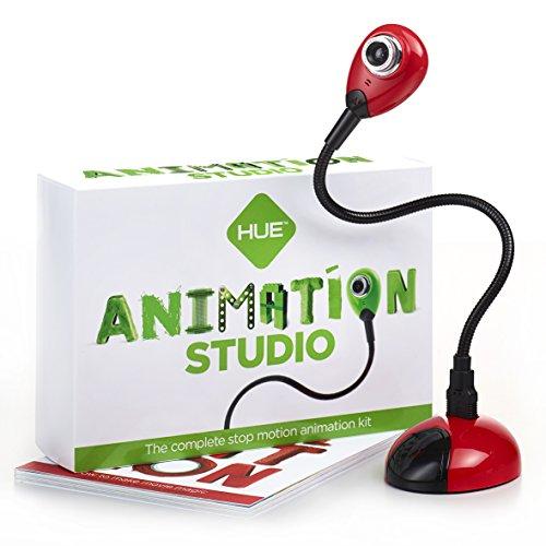 Hue Animation Studio für Windows-PCs & Mac (rot): komplettes Stop-Motion-Animation-Kit mit Kamera