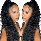 Fashion Icon 30 inch Long Drawstring Ponytail Synthetic High Puff Afro Clip in Ponytail Hair Extensions Black Deep Curly/Corn Wave Clip in Hair Pieces for Women (1B)