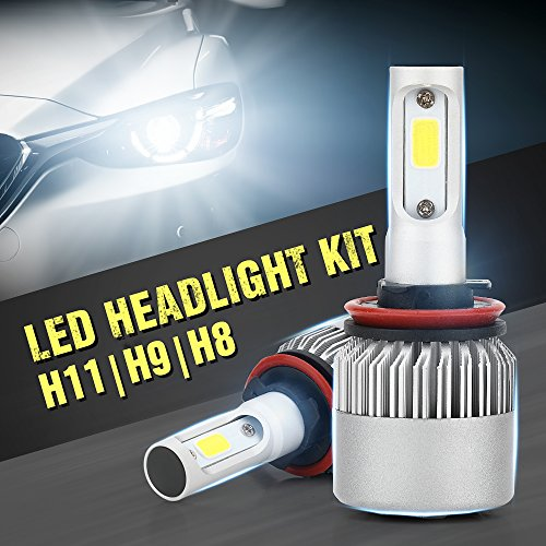 XCSOURCE 30000LM 200W S2 CREE LED Car Headlight H8/H9/H11 Halogen Lamp Bulb Built-in Cooling Fan 6500K White LD1053
