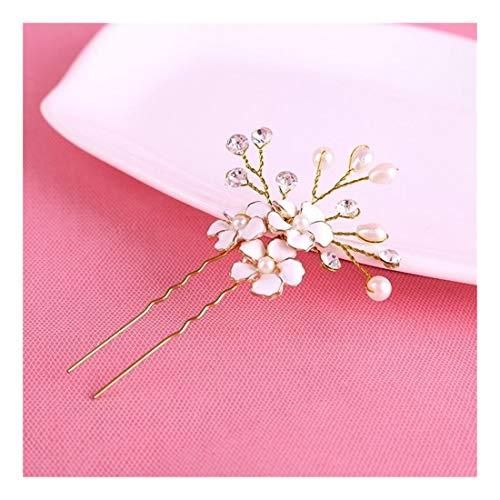 LNLW Élégant de mariée Accessoires de cheveux for les femmes de mariage, or Corolle fleur de mariage Accessoires de cheveux 2pcs