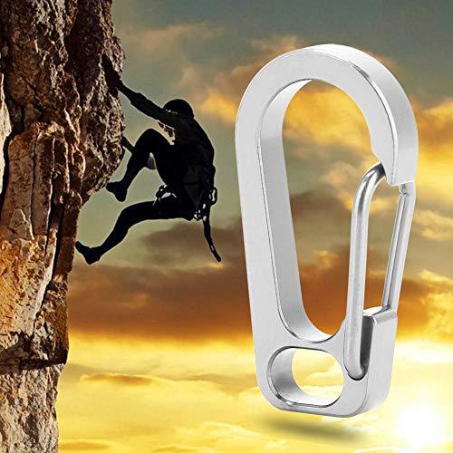 チタン キーチェーン クリップ 男女兼用 取付簡単 登山用バックル クイックハングフック キーチェーン バックパック ウォーターボトル用バックル チタン合金(元の)