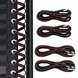 Replacement Cord for Zero Gravity Chair 4 Cord, CoiTek Brown Repair Cord Elastic for Zero Gravity Chair Recliners Chair Replacement Laces Cord Kit for Lounge Chair, Bungee Beach Chair (Brown)