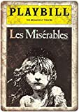 Playbill Broadway Theatre Les Miserables Tin Sign...