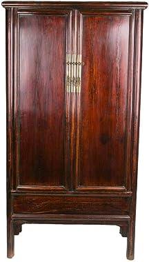 Fine Asianliving Armoire Chinoise Antique Rouge L94xP49xH187cm