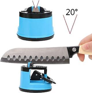 CuiGuoPing - Afilador de Cuchillos Manual, Tijeras, con Ventosa, Color al Azar