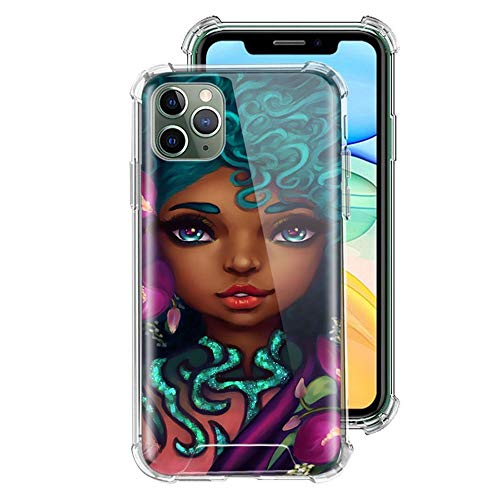 ZENGMING Black Girl Melanin Poppin Case For Apple iPhone Clear Soft Airbag Anti Phone Cover A02 For Funda iPhone 6 Plus (iPhone 6S Plus)