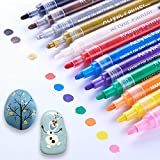 Acrylic Paint Marker Pens, Waterproof Paint Pens for Rocks Painting, Ceramic, Glass, Wood,...