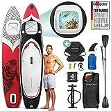 ¡Novedad de feria ISPO 2020! Premium Tabla Hinchable Paddle Surf WBX con Ventana 2en1   Agarre para cámara + 9en1 Set SUP   Marca de calidad alemana   Tabla inflable Stand Up Paddle  Asiento de kayak