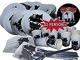 JS Trading Partygeschirr, 56 Teile für 12 Kinder | Piratenparty, Partygeschirr, Piratengeschirr,...