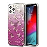Guess Phone Case Gradient PC/TPU Electroplated 4G Logo - iPhone 12 / iPhone 12 Pro Pink