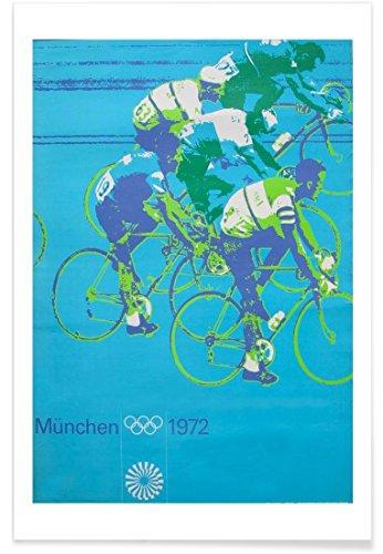 """JUNIQE® Radfahren Poster 20x30cm - Design """"bike4"""" entworfen von Robert Livingston"""