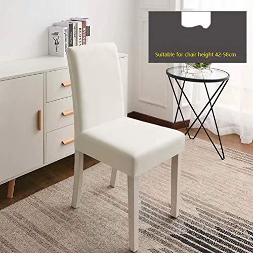 NIKIMI Einfarbig gekräuselte Stuhlabdeckung hohe Elastizität abnehmbare Sitzbezug waschbar Anti-Staub-Sitzkoffer für Bankett