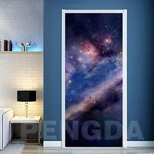 BXZGDJY 3D-fotobehang voor wandschilderingen, motief Del Cielo sterren, zelfklevend, van PVC, afneembaar, voor woonkamer, slaapkamer, voor kantoor 90x200cm