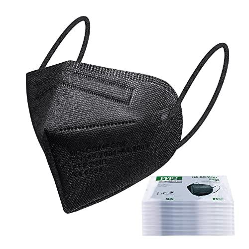 FFP2 Maske CE Zertifiziert schwarz - 20 Stück Masken - hygienische Einzelnverpackung - 5-lagige Premium Maske
