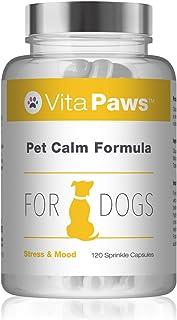 VitaPaws™ Fórmula calmante para perros | 120 cápsulas para espolvorear | Indicado para perros que