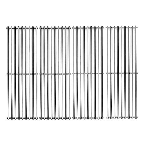 Votenli S6505A (4-Pack) 19 3/4' Stainless Steel Cooking Grid Grates Replacement for Chargriller 2121, 2123, 2222, 2828, 3001, 3030, 3725, 4000, 5050, 5252 Set of 4